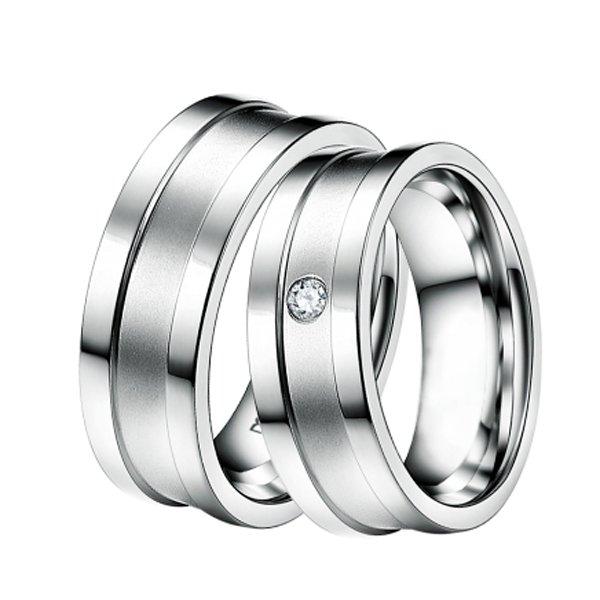 Ocelové snubní prsteny ST-88040