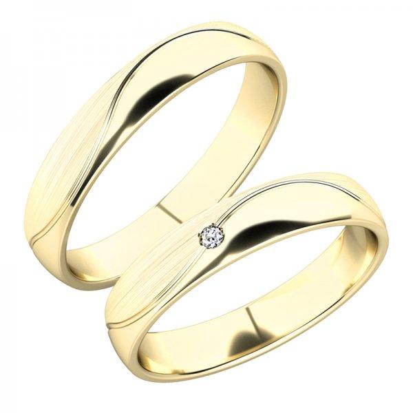 Snubní prsteny ze žlutého zlata SP-282
