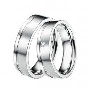 Ocelové snubní prsteny se zirkonem ST-88033