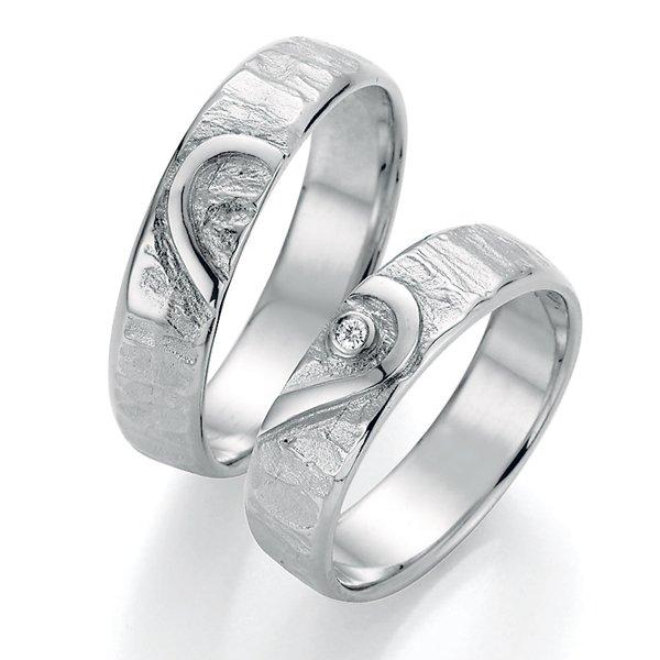 Stříbrné snubní prsteny s diamantem SP-51150