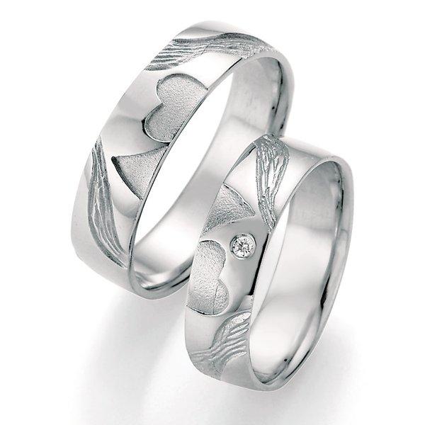 Stříbrné snubní prsteny s diamantem SP-51050