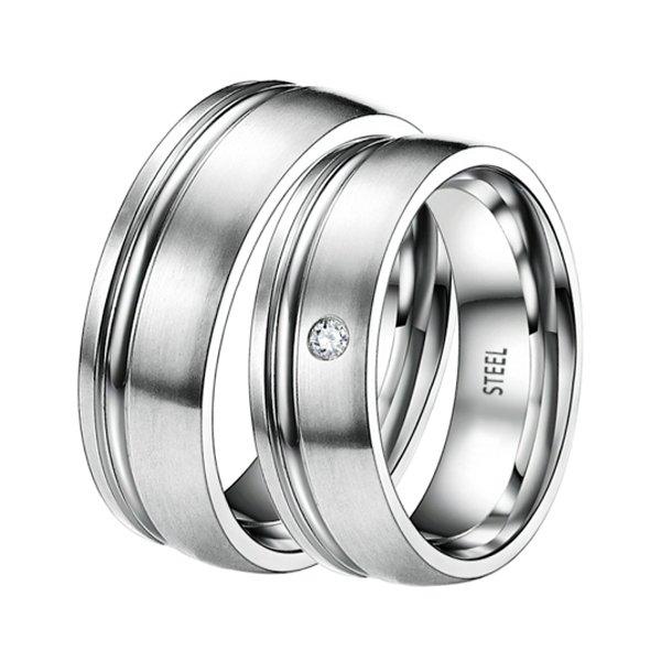 Ocelové snubní prsteny ST-88061