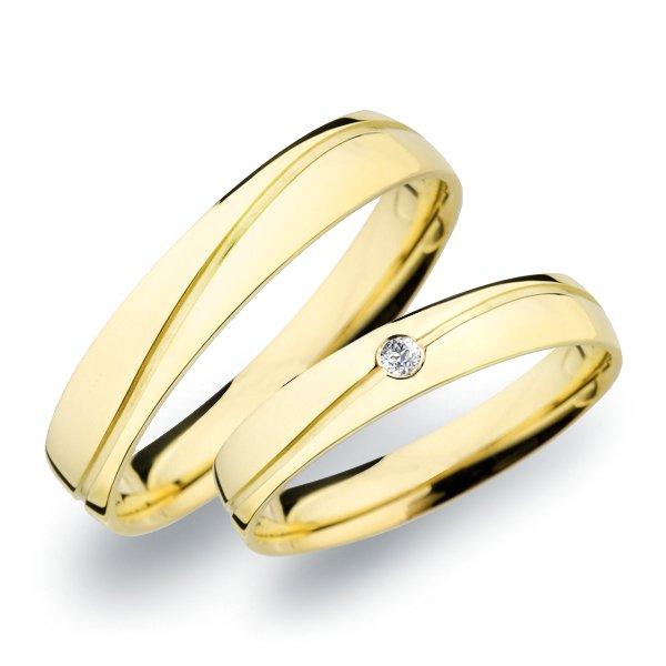 SP-282 Snubní prsteny ze žlutého zlata SP-282