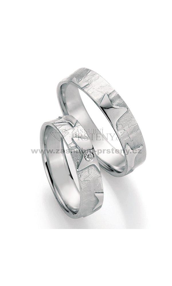 Stribrne Snubni Prsteny S Diamantem Sp 51130 Zasnubni Prsteny Cz
