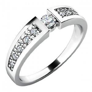 Zásnubní prsten se zirkony ZP-10775
