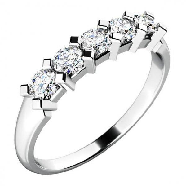 Zásnubní prsten zlatý se zirkony ZP-10774