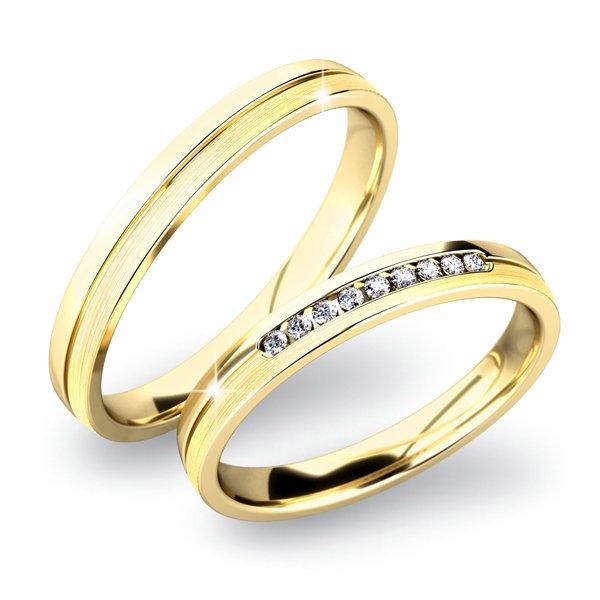 Snubní prsteny ze žlutého zlata SP-61042