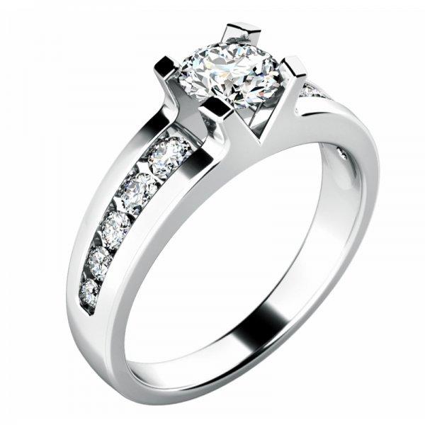 Zásnubní prsten s diamanty ZP-10776D