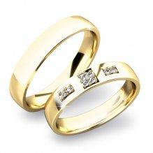 Zlaté snubní prsteny SP-61034Z