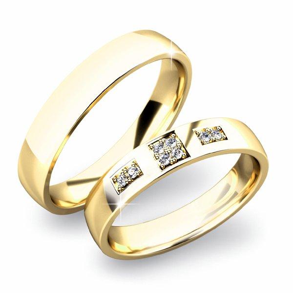 SP-61034 Zlaté snubní prsteny SP-61034