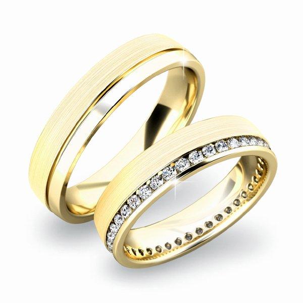 Zlaté snubní prsteny SP-61035Z