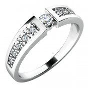 Zásnubní prsten s diamanty ZP-10775D