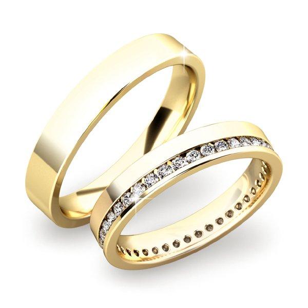 Snubní prsteny ze zlata SP-61036