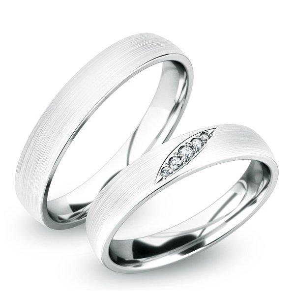 Snubní prsteny z bílého zlata SP-61038