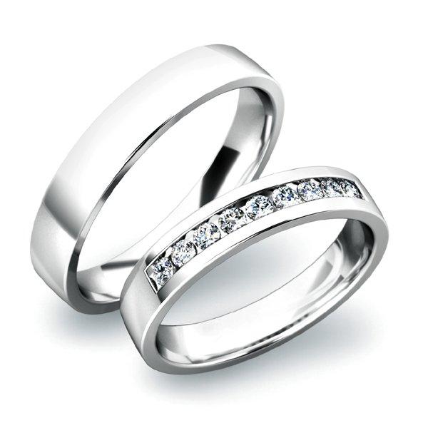 SP-61037 Zlaté snubní prsteny SP-61037B