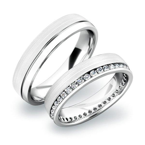 Zlaté snubní prsteny SP-61035B