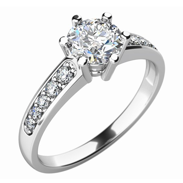 Zásnubní prsten s diamanty ZP-10747D