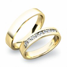 Zlaté snubní prsteny SP-61037