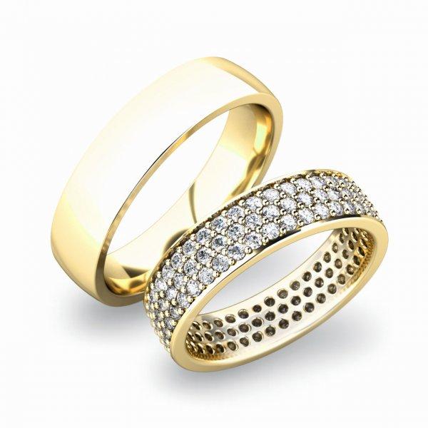 Snubní prsteny zlaté SP-61040