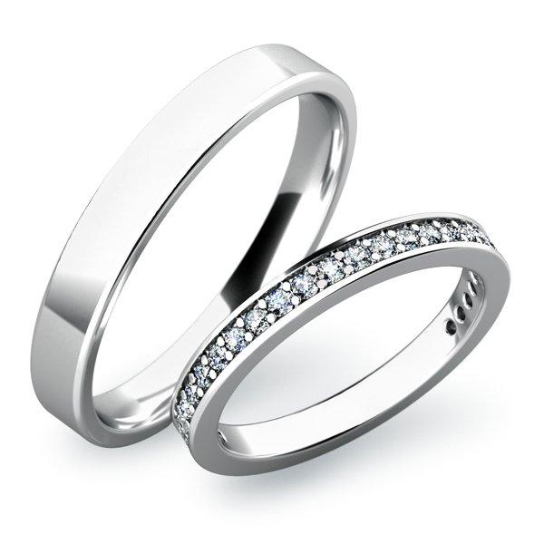 SP-61026 Snubní prsteny z bílého zlata SP-61026B