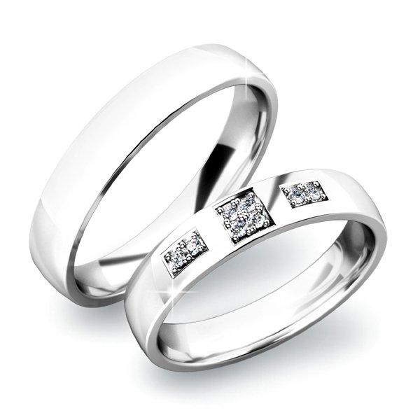 Zlaté snubní prsteny SP-61034B