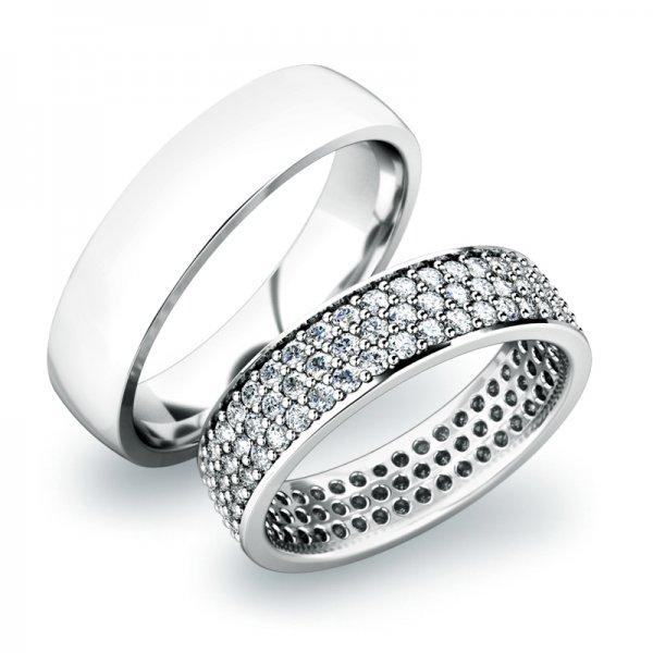 Zlaté snubní prsteny SP-61040