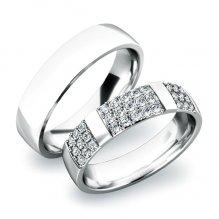Snubní prsteny z bílého zlata SP-61041
