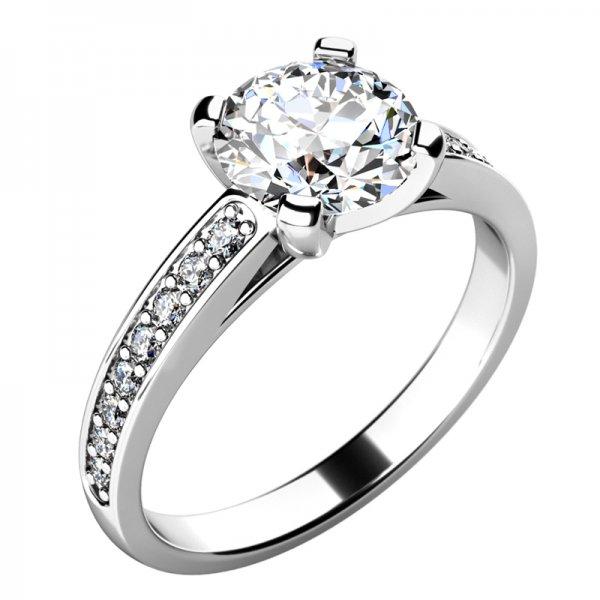 Zásnubní prsten s diamanty ZP-10777D