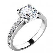 Zásnubní prsten se zirkony ZP-10777