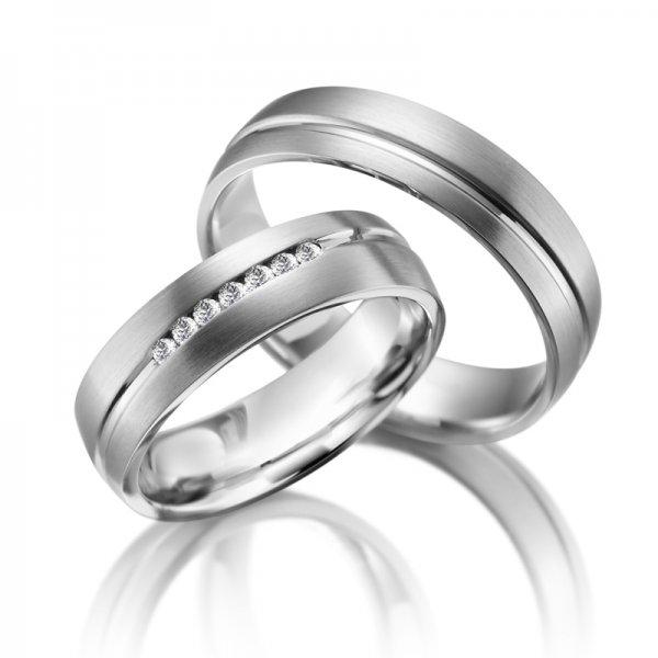 Ocelové snubní prsteny SP-ES-09