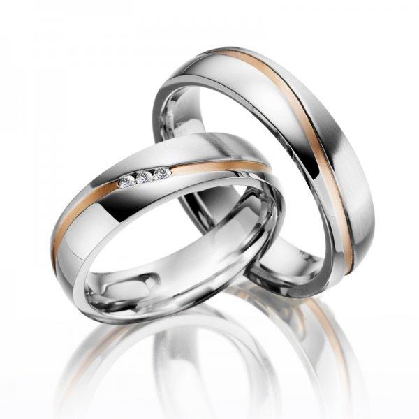 Ocelové snubní prsteny SP-ES-011