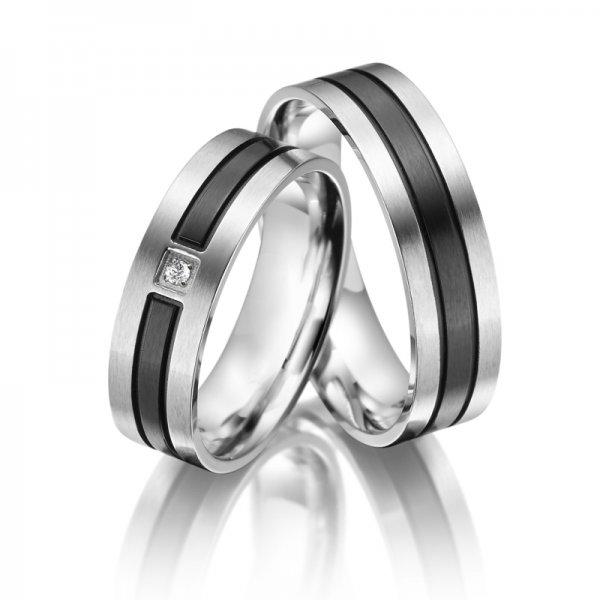 SP-ES-10 Ocelové snubní prsteny SP-ES-10