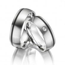 Ocelové snubní prsteny SP-ES-05