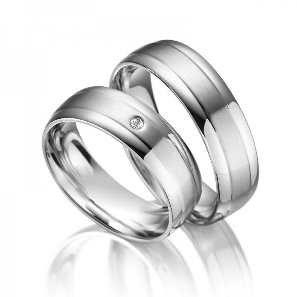 Ocelové snubní prsteny SP-ES-02