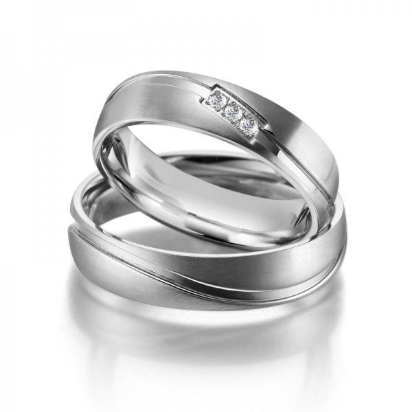 SP-ES-01 Ocelové snubní prsteny SP-ES-01