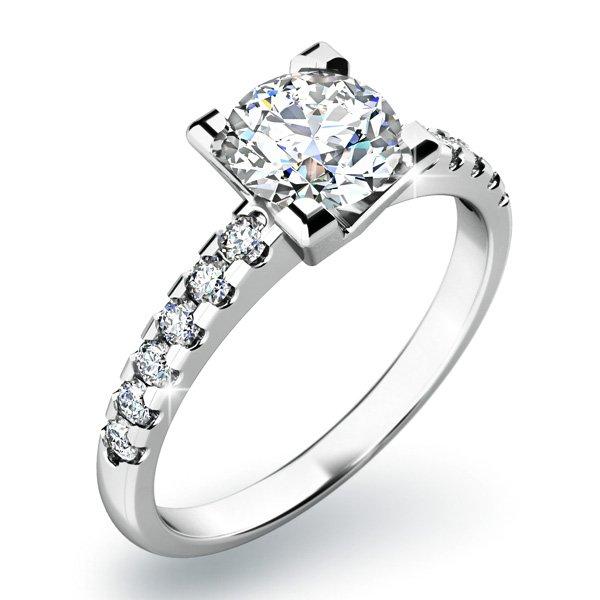 Zásnubní prsten s diamanty ZP-10804D