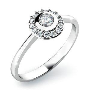 Zásnubní prsten s diamanty ZP-10799D