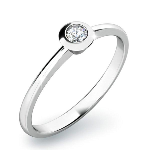 Zásnubní prsten se zirkonem ZP-10807