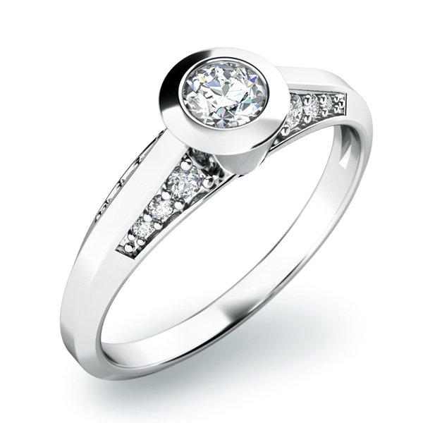Zásnubní prsten se zirkony ZP-10798