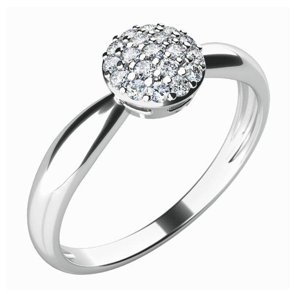 Zásnubní prsten s diamanty ZP-10815D
