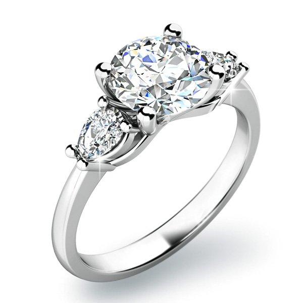 Zásnubní prsten se zirkony ZP-10801