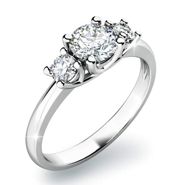 Zásnubní prsten s diamanty ZP-10803D