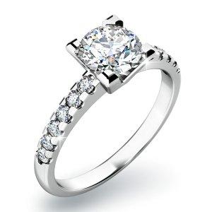 Zásnubní prsten se zirkony ZP-10804