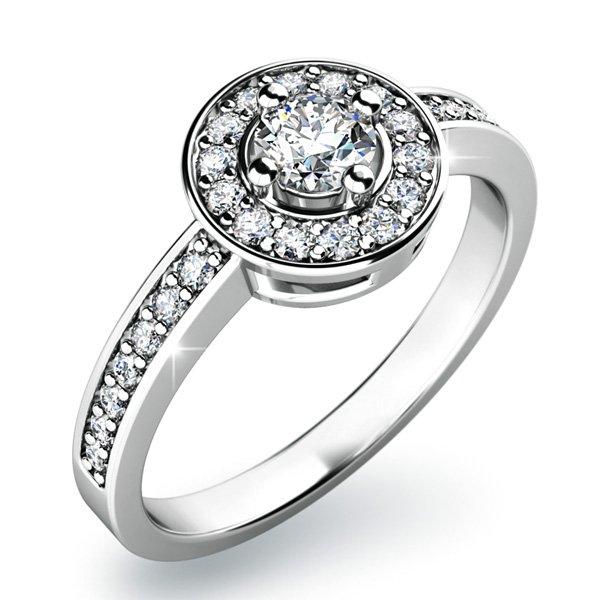 Zásnubní prsten s diamanty ZP-10802D