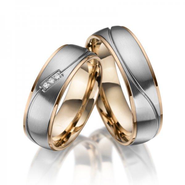 SP-ES-21 Ocelové snubní prsteny SP-ES-21
