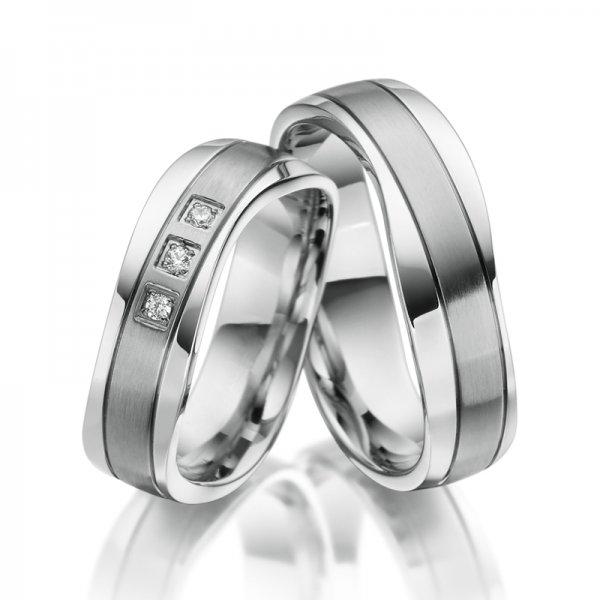 Ocelové snubní prsteny SP-ES-18