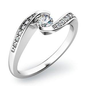 Zásnubní prsten se zirkony ZP-10844