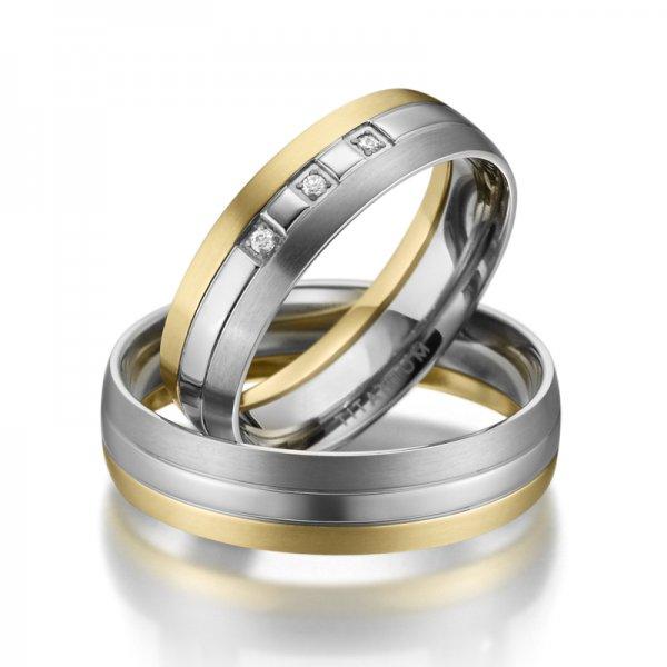 SP-TI-10 Titanové snubní prsteny SP-TI-10