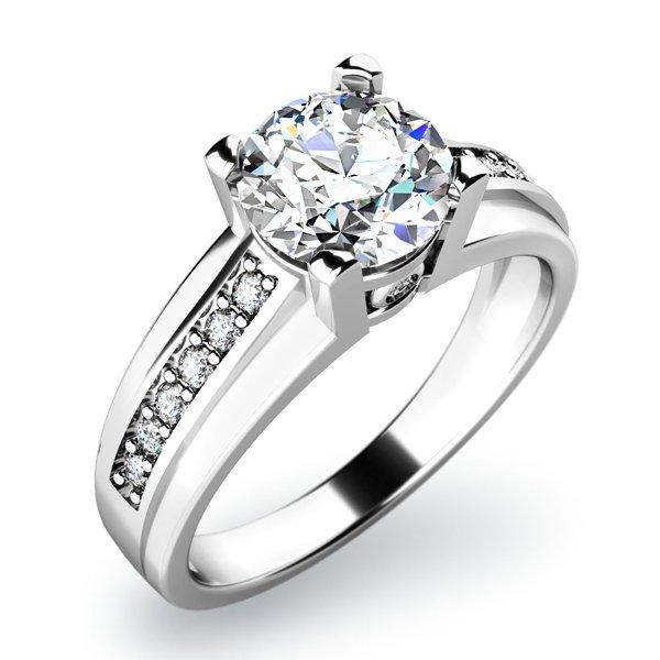 Zásnubní prsten se zirkony ZP-10816