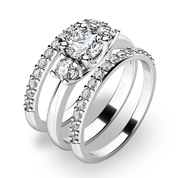 Zlatý set zásnubních prstenů 10803-SET02-BB
